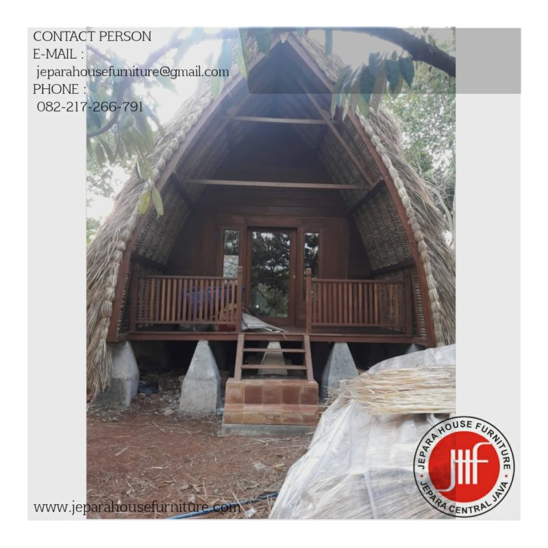 jual rumah kayu model lumbung sasak