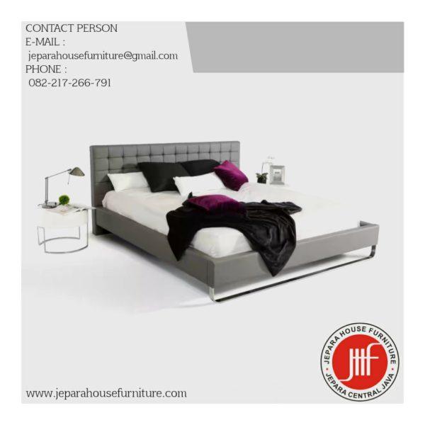 tempat tidur modern minimalis stainless
