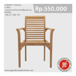 kursi jati murah stacking chair