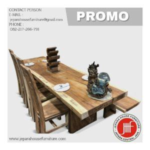 meja makan kayu tebal murah