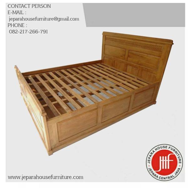 harga tempat tidur kayu jati