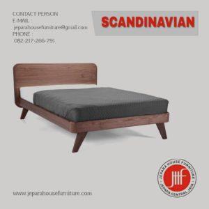 tempat tidur retro scandinavian jepara
