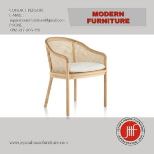 armed dining chair kursi makan cafe