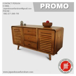 Retro Teak Wood Cabinet Tv Credenza