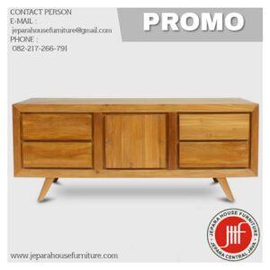 Teak Wood Cabinet Tv Credenza