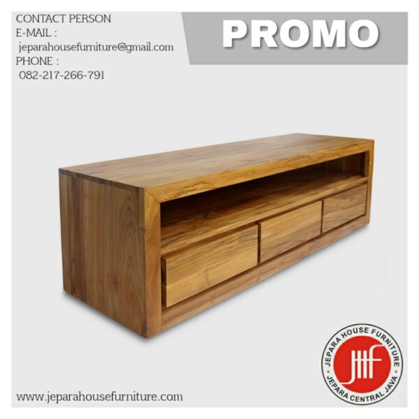 Teak wood Minimalist Cabinet Tv Credenza Kayu jati Murah