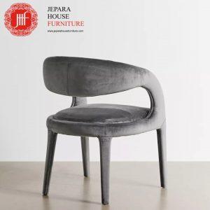 Kursi makan terbaru modern warna grey